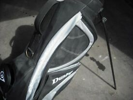DUNLOP GOLF BAG WITH COVER BLACK/GREY WITH STAND