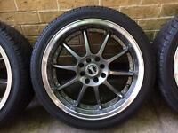 Alloys Set of Five 17 inch with Tyres