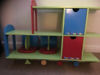 Children's bedroom shelf and book ends for sale