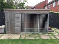 LARGE DOG KENNEL DOG RUN 10ft x 4ft x 5ft Treated Great Condition