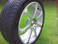 """Set of 17"""" BK Alloy wheels and tyres"""