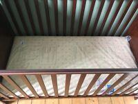 Brand new, unopened organic cotbed mattress