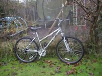 ladies giant rock 19 in frame,front suspension,gel saddle,runs perfectly