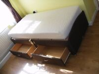 CAN DELIVER - ADJUSTABLE ELECTRIC SINGLE BED WITH 2 DRAWERS AND MATTRESS IN GREAT CONDITION