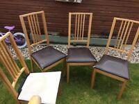 4 wooden Ikea chairs