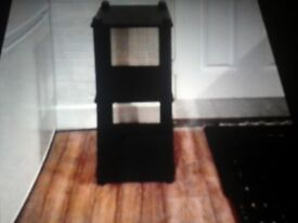 PLANT OR LAMP STAND BLACK REDUCED BARGAIN