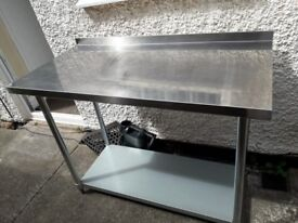 Stainless steel work table x2