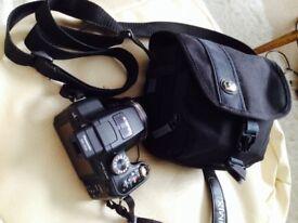 Lumix FZ45 bridge camera inc. smart black case, 14 m-pix 24X zoom 25mm lens