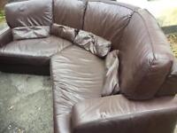 Curved sofa . Delivered