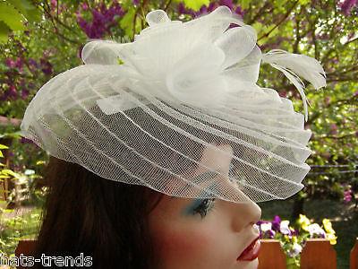 Fascinante Festivo Tocado Elegante Boda Gorro de Ocasión Sombrero para Dama