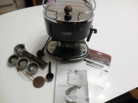 Delonghi Icona Vintage Espresso, Cappuccino Coffee Maker with Milk Frother