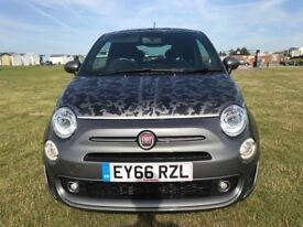 66 Reg Grey 2016 Fiat 500 Sport Facelift 12k miles Sat Nav Leather & More