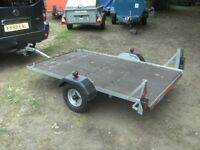 VERY NICE 6-6 X 4-0 FLATBED TRAILER WITH ROAD LIGHTS...