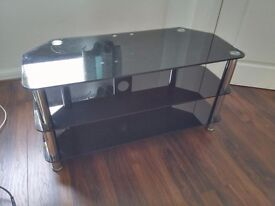 3 tier glass tv unit