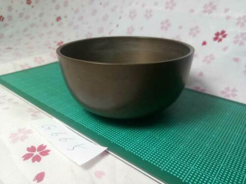 """3.327"""" Japanese Vintage Buddhist Bell Gong Rin G665 Traditional Tone"""