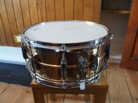 Ludwig Hammered Bronze Snare Drum 6.5 x 14 with Imperial Lugs