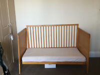 Cot Bed / Small Bed for sale, good condition & height adujstable + Mattress available at EXTRA cost
