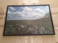 Large, Deep Black Photo Frame- huge!!