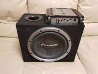 CAR SUBWOOFER PIONEER 1200 WATT 12 INCH BASS BOX WITH BUILD IN DIRECTED AMPLIFIER SUB WOOFER AMP