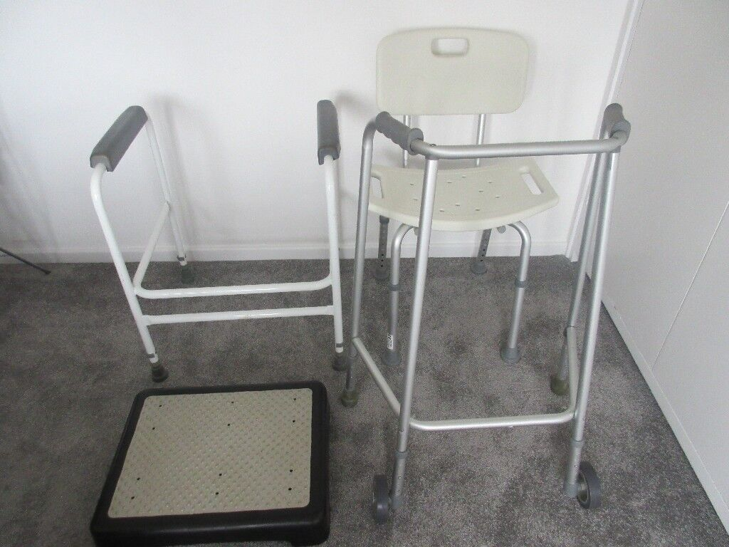 Disability aids: Walking Frame, Shower Seat, Toilet Frame and Step ...