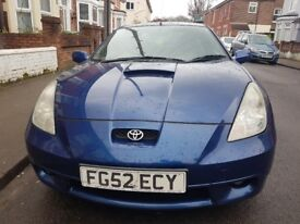 TOYOTA CELICA 52 PLATE, 190BPH, SAT-NAV, REAR CAM, BLUETOOTH, DVD, LEATHER TRIM