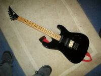CHARVEL USA ELECTRIC GUITAR - BLACK WITH MAPLE NECK - HSS - POINTY HEADSTOCK