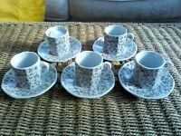 10 Piece Cup & Saucer Set Perfect for Expressos
