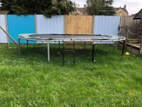 Oval jumpking trampoline