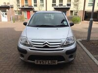 57 plate Citroen C3 cool 1.4 Low mileage finished in silver with contrasting black upholstery.
