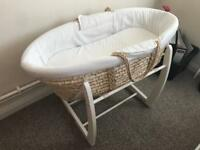 Classic Mamas and Papas moses basket