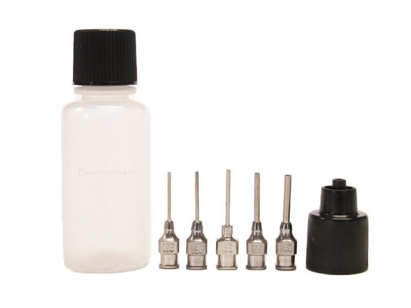 Soft Squeeze Applicator Bottle 5 Metal Tips Henna Glue Jagua Ink Paint Paste Gel