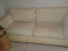 two 2 seater cane couches