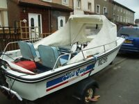 13FT DELL DORY BOAT AND 55HP SUZUKI OUTBOARD AND TRAILER
