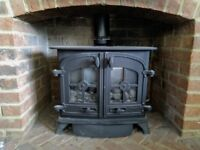 3 year old Yeoman Exminster (Dartmoor) Gas Stove, great condition, coal effect