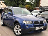 BMW X3 2.0 20d 6 Speed Manual Full Service History Sat/Nav Reversing Camera Long MOT + Warranty