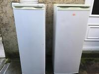 Larder fridge and freezer