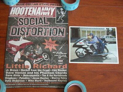 Rare SOCIAL DISTORTION Little Richard Promo Hootenanny Poster George Barris