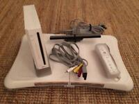 Wii games console, Wii fit balance board, with all cables & controller - very rarely used