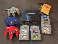 Nintendo 64, 3 controllers with 11 games