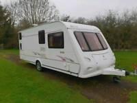 Elddis avante 556 6 berth touring caravan bunk beds full awning