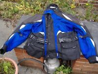 frank thomas aqua pore xl motorcycle jacket