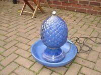 Ceramic garden water feature