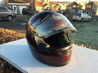 Arai full face crash helmet