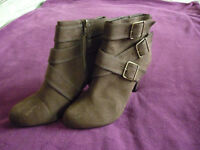 M & S brown suede ankle boots