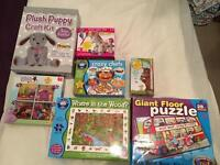 Crafts games and puzzles