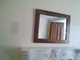 Mirror. Dark Sheesham wood mirror
