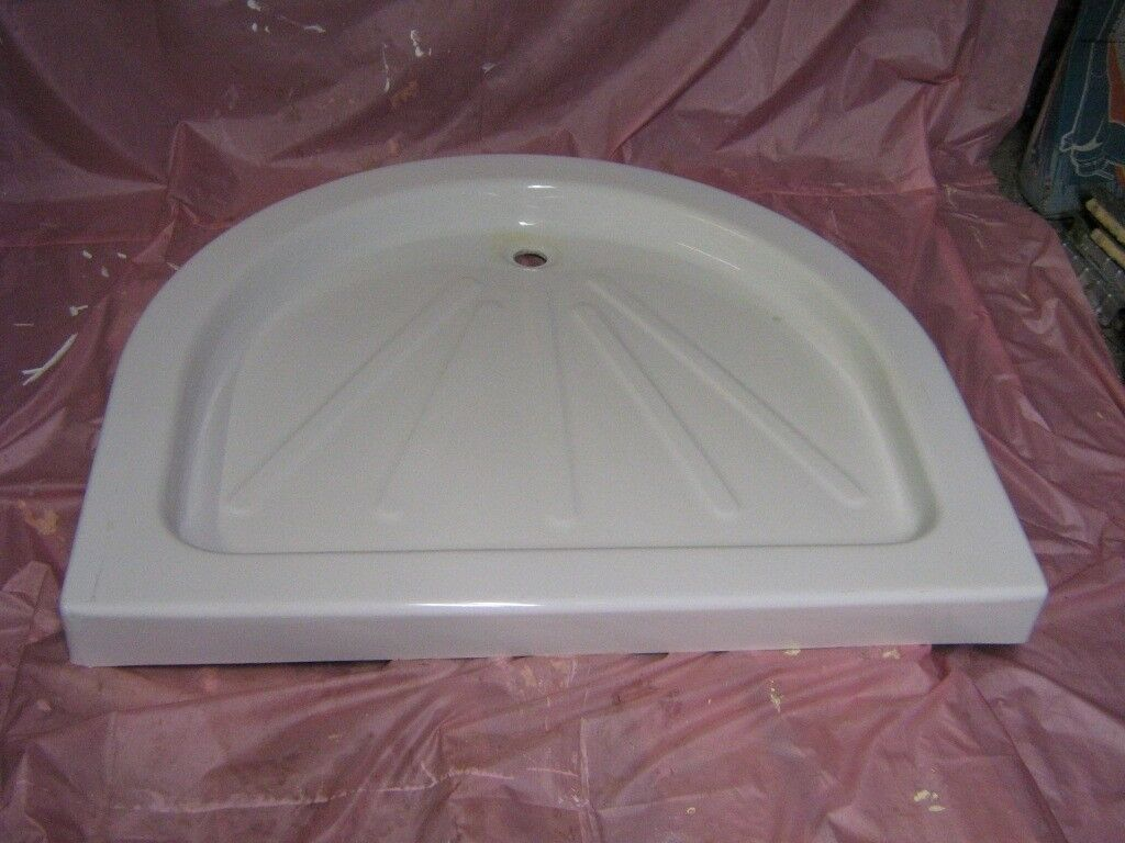 WHITE D SHAPED SHOWER TRAY | in Stoke-on-Trent, Staffordshire ...