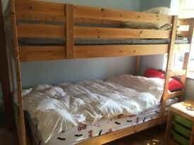Ikea Mydal bunk bed with 2 foam mattresses