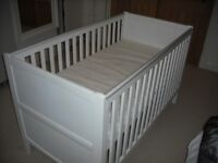 Mothercare Cotbed Sanctuary White with mattress