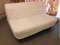IKEA LYCKSELE 2 Seater Double Sofa Bed with White heavy removable futon cover sofabed dismantles